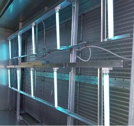 UVC fixture installed